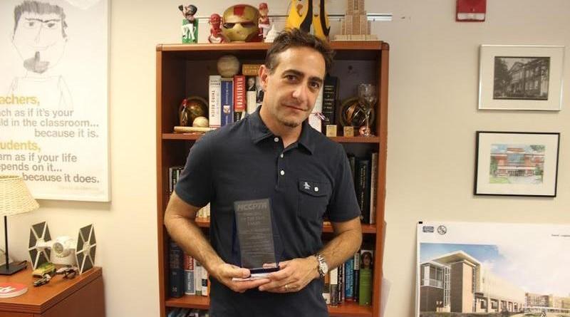 Mr. Monteleone wins MCCPTA Principal of the Year Award