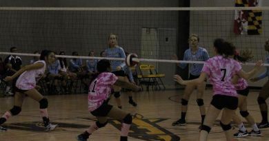 Girls volleyball fights against Coyotes, and breast cancer