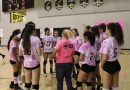 Volleyball supports the fight against breast cancer in their annual Dig Pink game